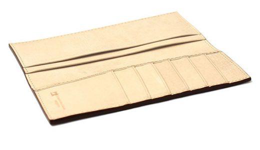薄さ重視!本革仕様のエルバマットの長財布 革小物の札幌革職人館