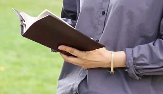 ブックカバー 新書 革 オイルレザー 新書判 本を読む