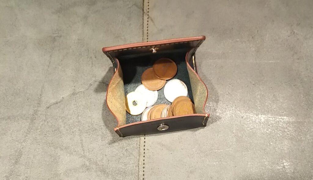 BOX型 コインケース イタリアンレザー エルバマット