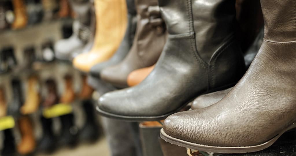 牛革の靴の画像